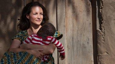 Kristin Davis visited the Democratic Republic of Congo with the UNHCR.