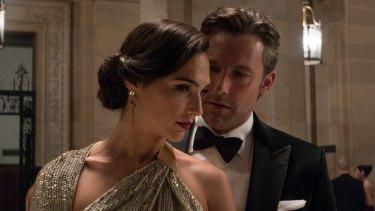 Ben Affleck as Bruce Wayne and Gal Gadot as Diana Prince in Batman V Superman: Dawn Of Justice.