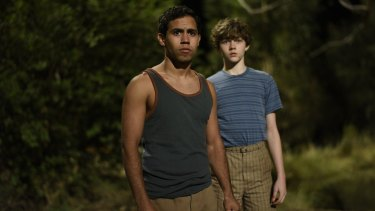Levi Miller and Aaron L. McGrath as Charlie and Jasper in the hotly anticipated film adaptation of Jasper Jones.