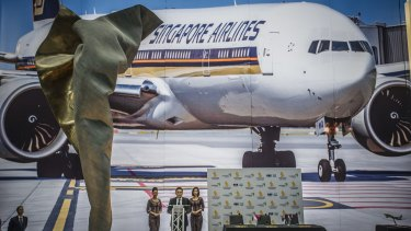 Singapore airlines launches its capital express route last week.