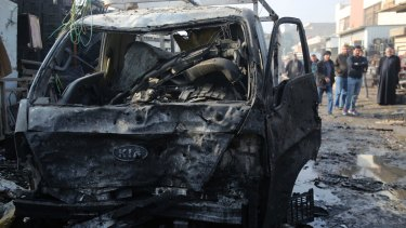 The attacker detonated the bomb after security forces opened fire.