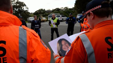 The police and SES are searching Avondale Heights and along the Maribyrnong River for missing woman Karen Ristevski.