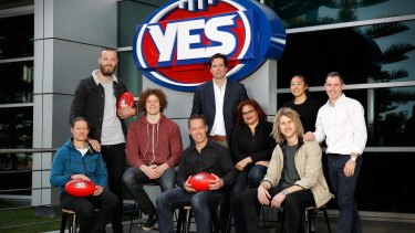 """AFL figures supporting the """"yes"""" campaign include players, coaches and administrators, including Meg Hutchins, Max Gawn, Ben Brown, Alastair Clarkson, Gillon McLachlan, Tanya Hosch, Dyson Heppell, Darcy Vescio and Hayden Kennedy."""