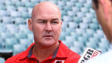 Vote of confidence: Dragons coach Paul McGregor.