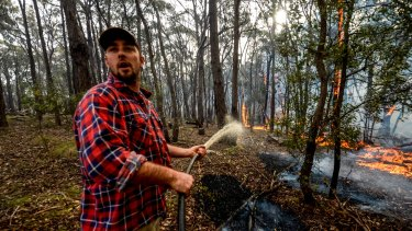 Adam Watkins fights to save his Lancefield home.
