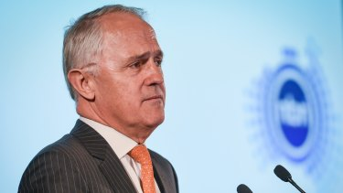 Malcolm Turnbull speaking about the NBN Corporate Plan while serving as the Federal Minister for Communications in 2015.