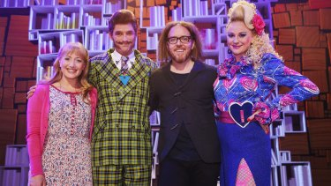 Elise McCann, Daniel Frederiksen, Tim Minchin and Marika Aubrey ahead of the Matilda The Musical opening.