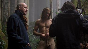 Alexander Skarsgard, centre, on the set of the film The Legend of Tarzan.