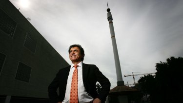 Stefan Ackerie, pictured with his Skyneedle in 2008.
