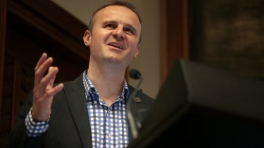 Chief Minister Andrew Barr.