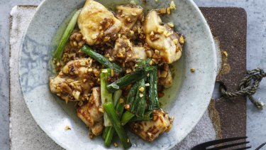 Garlic oil chicken.