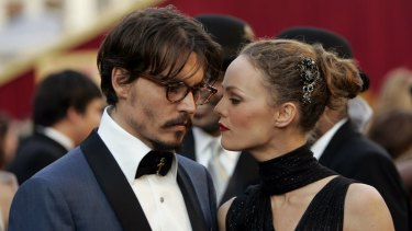 Depp with his former partner of 14 years, French actress Vanessa Paradis, in 2005.
