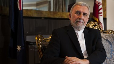 """Iranian ambassador Abdolhossein Vahaji: """"Your country [is] in a position that you have to accept asylum seekers."""""""