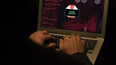 Ukraine was first to report Tuesday's widespread cyberattacks (file image).