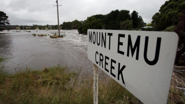 Mount Emu Creek at Panmure,