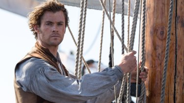 Chris Hemsworth as Owen Chase, First Mate on whale ship Essex in In the Heart of the Sea.