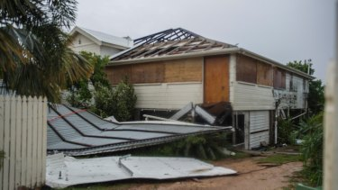 Bowen home without a roof after Cyclone Debbie