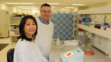 Professor Mimi Tang of the Murdoch Childrens Research Institute with Dr Graeme Wald.