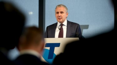"""Telstra's chief executive Andrew Penn  """"applauded"""" the NBN's decision to prioritise customer experience and said the financial implications for Telstra would not be """"long-term""""."""