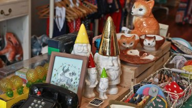 Knick knacks at Origami Doll in Newtown.