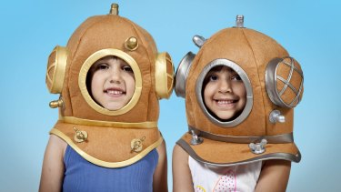 Children at the <i>Voyage to the Deep</i> exhibition.