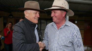 Prime Minister Malcolm Turnbull and Nationals leader Barnaby Joyce.