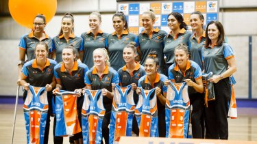 The Canberra Giants netball squad launched their 2018 season on Friday.