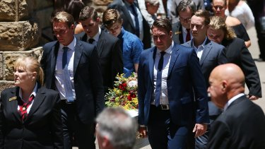 Mr Miller's casket is taken from St Stephen's Cathedral.