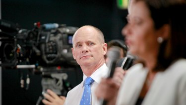 Premier Campbell Newman has gone head-to-head with Annastacia Palaszczuk during the election campaign, but he can't spell her name.