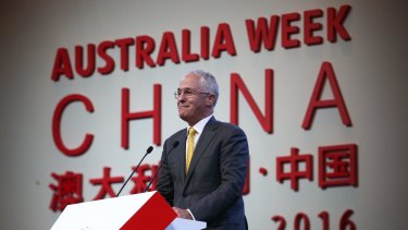 Mr Turnbull is on his first official visit to China since becoming prime minister.