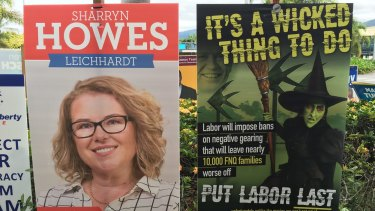 Election signs in the Queensland seat of Leichhardt