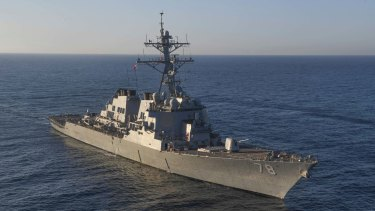The guided-missile destroyer USS Porter in the Mediterranean Sea last month.