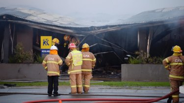 Firefighters were unable to save the Kool Kidz childcare centre after battling to bring the blaze under control.