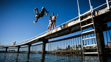 The water will be 21 degrees off the coast, giving Sydneysiders a chance to cool off.