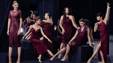Cat McNeil  and David Jones ambassadors Jessica Gomes and Montana Cox with dancers from the Sydney Dance Company in the new-season campaign.