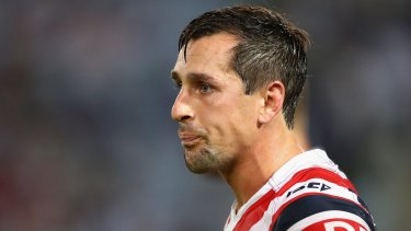 A bridge too far: Rooster Mitchell Pearce.