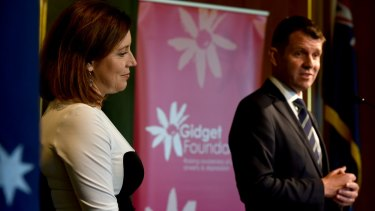 Premier Mike Baird and his wife Kerryn  at a Gidget Foundation lunch to raise awareness about perinatal​ anxiety and depression.