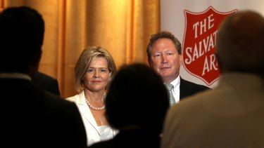 Andrew and Nicola Forrest are among Australia's biggest givers.