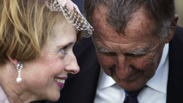 All is forgiven: Gai Waterhouse and John Singleton have buried the hatchet.