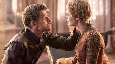 Nikolaj Coster-Waldau as Jaime Lannister and Lena Headey as Cersei Lannister.