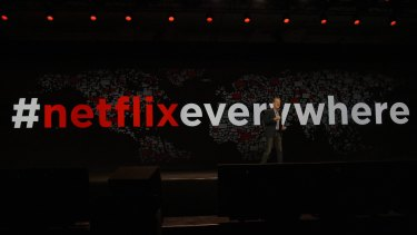 Netflix everywhere: Hastings says China is now the only major country without Netflix.
