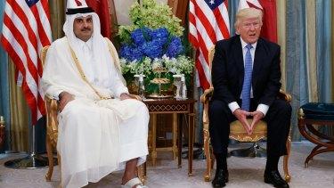 President Trump held a bilateral meeting with Qatar's Emir Sheikh Tamim Bin Hamad Al-Than last month.
