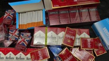 Illicit cigarettes purchased in a Melbourne suburb.