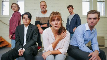 The cast of Kin Collective's Shrine, from left, Tenielle Thompson, Keith Brockett, Christopher Bunworth, Ally Fowler, Nick Clark and Christian Taylor.