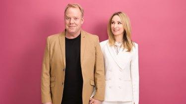 Pete Helliar and Lisa McCune.