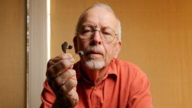 Pensioner Jan De Vries with his new hearing aid.