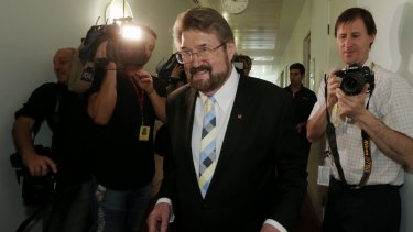 """Senator Derryn Hinch said he had """"no qualms"""" about scrapping the two-out-of-three rule."""