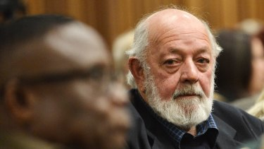 Father of the late Reeve Steenkamp, Barry Steenkamp, in court on Monday.