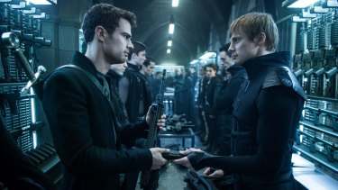 Theo James (left) and Bradley James (right).