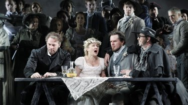 Teddy Tahu Rhodes, Taryn Fiebig, Richard Anderson and Shane Lowrencev in Opera Australia's <i>Don Giovanni</i>.